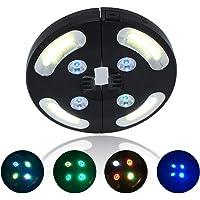 Sombrilla LED con iluminación superclara, 3 modos de iluminación, 7 colores de luz, luz nocturna para jardín, playa…
