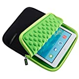 Jlyifan 7 ~ 8Tablets Neoprene Sleeve Cover Carrying Case Pouch for iPad Mini 4 / Samsung Galaxy Tab A 8.0 7.0 / Tab E 8.0 / Tab S2 Nook 8.0 / Asus ZenPad 3 8 inch (Green/Black)