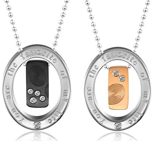 [Rectangle Finger Marks The Manifest Of Love,Matching Set Stainless Steel Pendant Necklace Aooaz] (Makers Mark Costume)