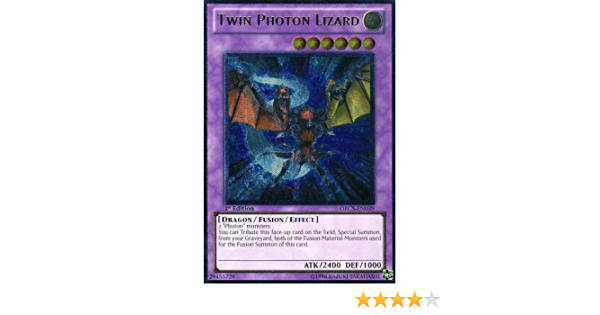 Yu-gi-oh! Unlimited Edition - Order Of Chaos Ultimate Rare Orcs- En039 Twin Photon Lizard