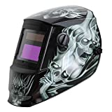Antra AH6-260-6218 Solar Power Auto Darkening Welding Helmet with AntFi X60-2 Wide Shade Range 4/5-9/9-13 with Grinding Feature Extra lens covers Good for TIG MMA MIG Plasma