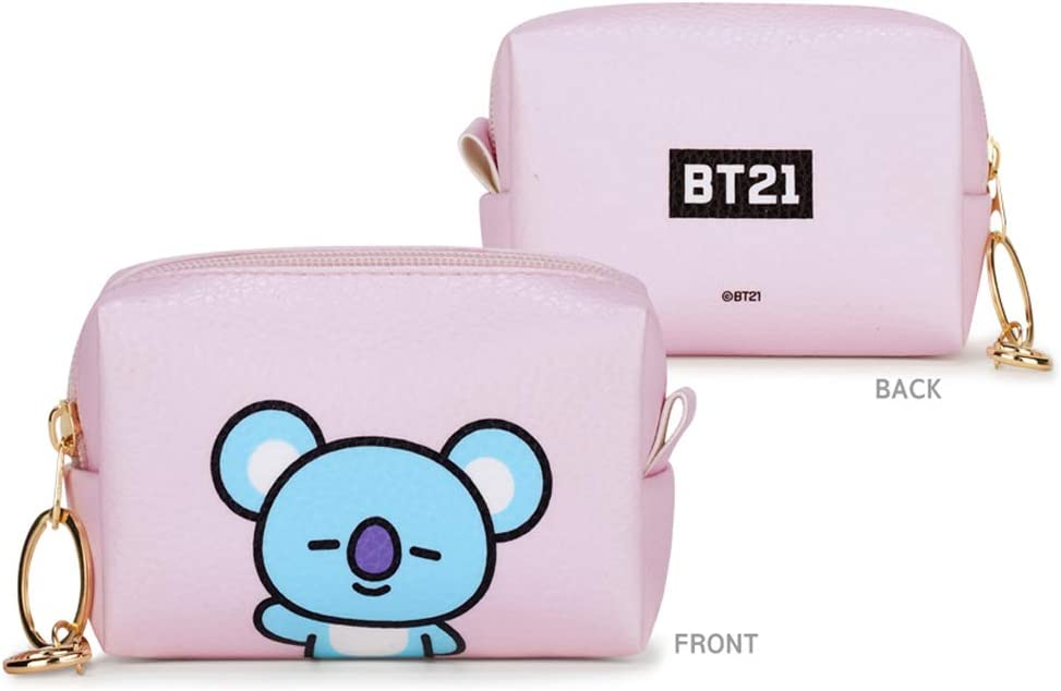 s + Idolpark Gift Cooky BTS Official PU Small Square Pouch