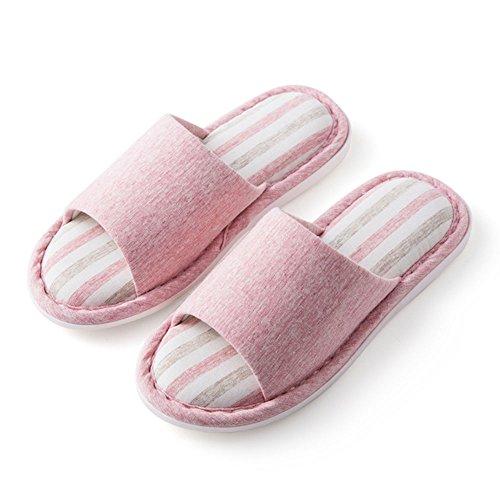 ZHIRONG Zapatillas de damas Modernas Pareja casera Pantuflas de algodón deslizables de interior Tamaño del color Opcional ( Color : Pink , Tamaño : 39-40 ) Pink