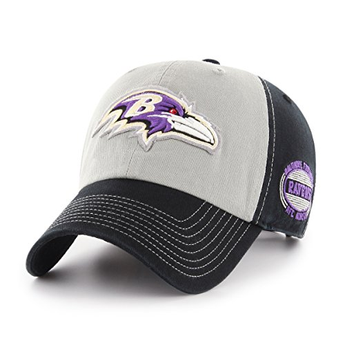 OTS NFL Baltimore Ravens Adult Tuscon Challenger Clean Up Adjustable Hat, One Size, Black Baltimore Ravens Black Fashion
