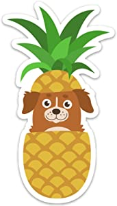 Pineapple Dog Sticker Decal 4