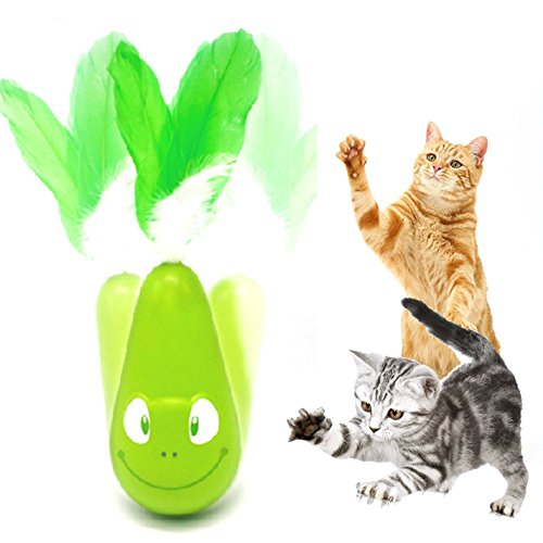 Cat toys Automatic Feather Interactive Shake Tumbler Toy Entertainment Exercise For Most Cats - FIRIK - Frog
