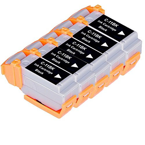 - LiC-Store 5x Black Compatible ink cartridge for BCI11 BCI-11 for BJC-50 BJC-55 BJC-70 BJC-80 BJC-85 BJC-85PW