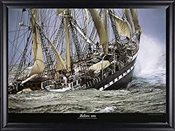 Le Siecle du Belem by Philip Plisson Ship Sinking Framed Picture, 36×28