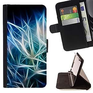 For Samsung Galaxy S5 V SM-G900 Case , Azul Negro iridiscente- la tarjeta de Crédito Slots PU Funda de cuero Monedero caso cubierta de piel