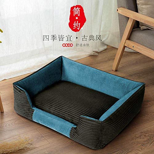 Law fighting Bago Bichon Kejibodi Four seasons kennel removable and washable medium small dog supplies, bluee, XL-super large 110cm75cm