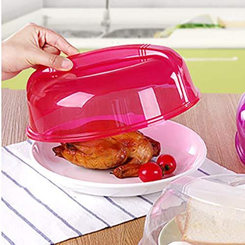 (️ Yu2d ❤️❤️ ️Microwave Food Cover Plate Vented Splatter Protector Clear Kitchen Lid Safe)