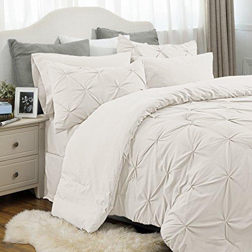 "Twin Bedroom Set 6 Piece Solid Wood Pine: Bedsure 6 Piece Comforter Set Twin Size (68""X88"") Solid"