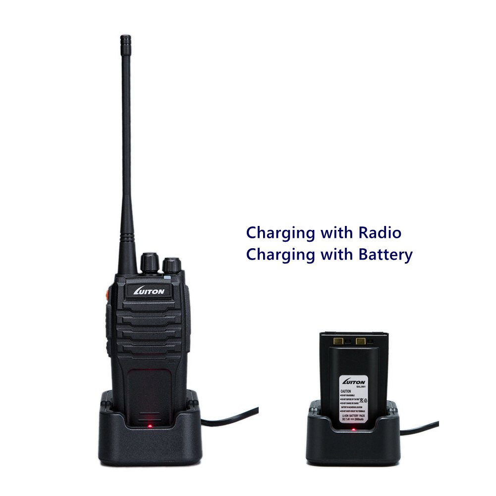 1pc Walkie Talkies Long Range UHF 2 Way Radios Rechargeable 10 Watt with 16 Channel FM Transceiver for Adults Camping Hiking Playing by Luiton