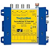 TechniSat TECHNIROUTER 5/2x4 G-R, Einkabellösung/Verteiler für zwei Kabelstränge, für 1 Orbit-Position über ein Kabel (Unicable-Multischalter)