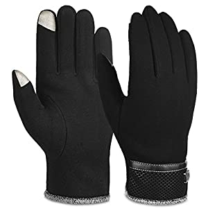 Vbiger Men Warm Gloves Winter Touch Screen Gloves Cold Weather Gloves Texting Mittens for Men