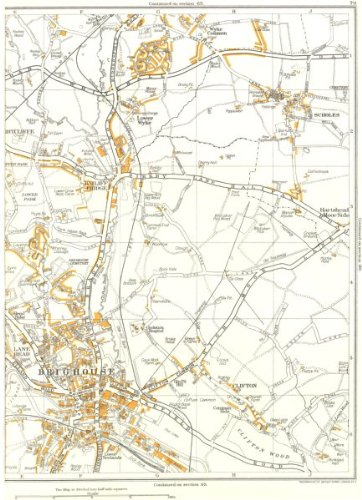 BRIGHOUSE:Clifton,Scholes,Lower Park,Bailiff Bridge,Wyke 1935 vintage map