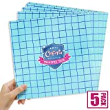 Transfer Paper Tape Sheets 12'x12' Clear w/Blue Alignment Grid | Perfect for Cricut Cameo Self Adhesive Vinyl for Signs Stickers Decals Walls Doors & Windows