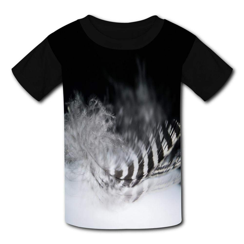 Light Feathers Child Short Sleeve Fashion T-Shirt Of Boys And Girls L