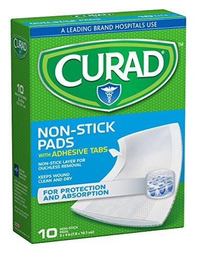Curad Non-Stick Pads 3 Inches X 4 Inches 10 Each (Pack of  3) ()