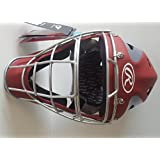 "Rawlings CHVELY Velo Youth Red / Gray Catchers Helmet Fits 6 1/2""-7"""