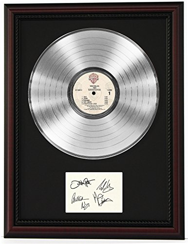 Van Halen Cherrywood Framed Platinum Lp Ltd Signature Display C3 ()