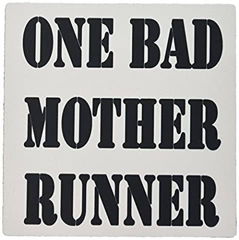 3dRose LLC 8 x 8 x 0.25 Inches Mouse Pad, One Bad Mother Runner, Marathon, Jogging (mp_161096_1) (Bad Runner)