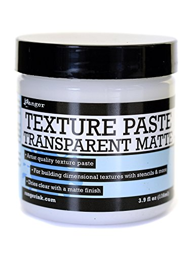 Ranger Texture Paste transparent matte 4 oz. jar [PACK OF 3 ] by Ranger