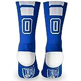 Custom Team Number Crew Socks | Athletic Socks by ChalkTalkSPORTS | Blue | 00