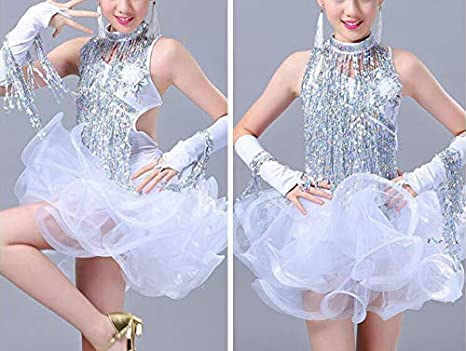 Rose Red Yalulu 6.5 Yards//Lot 30CM Encryption Sequins Lace Tassel Fringe Trim for DIY Latin Dance Stage Costume Decor