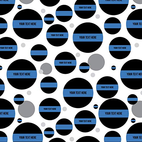 - GRAPHICS & MORE Personalized Custom 1 Line Police Thin Blue Line Premium Gift Wrap Wrapping Paper Roll