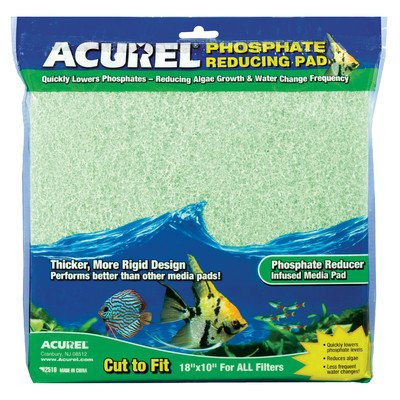 Phosphate Infused Media Aquarium Pad [Set of 2] by Acurel