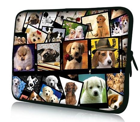 Luxburg® Design Funda Blanda Bolso Sleeve para Ordenador Portátil/MacBook de 15,6 pulgadas, motivo: perritos: Amazon.es: Electrónica