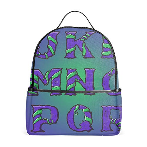 Laptop Backpacks Halloween Decorative Alphabet Girls Women Travel Daypack Bag ()