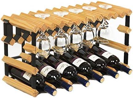 XXH Portavasos Portavasos Colgante Botellero Estante para vinos (Color : Color Madera): Amazon.es: Hogar