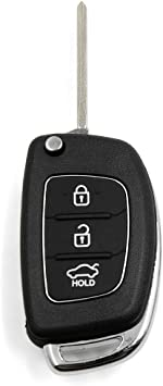uxcell/® 2 Pcs 3 Buttons Flip Folding Uncut Key Remote Fob Case Replacement for Hyundai