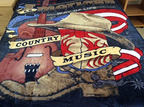 Country Music, Mink Style Queen Size Soft & Warm Blanket