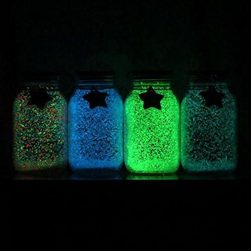 Celiy 3Bag//30G Gravel Fluorescent Sand of Glow in The Dark Luminous Sand Aquarium Fluorescent Photoluminescent Grain Particle Fish Tank Farmhouse