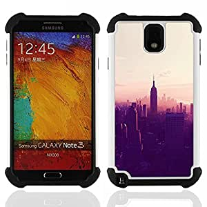 For Samsung Galaxy Note3 N9000 N9008V N9009 - New york City sunset empire state Dual Layer caso de Shell HUELGA Impacto pata de cabra con im????genes gr????ficas Steam - Funny Shop -
