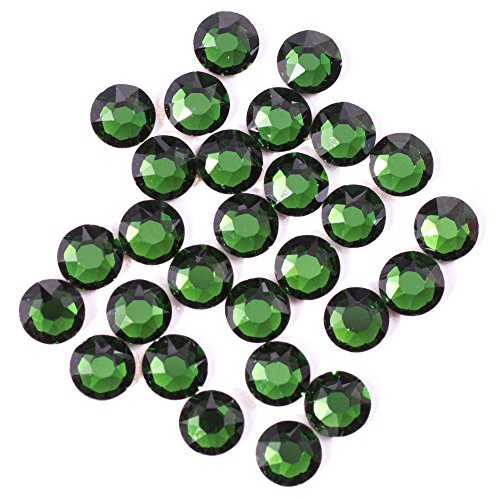Swarovski - Create Your Style 2088 SS16 Dark Moss Green Flatback 3 packages of 28 Piece (84 Total Crystals) (Green Swarovski Glass)