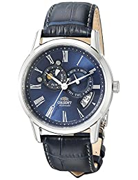 Orient Men's FET0T004D0 Sun and Moon Analog Display Japanese Automatic Blue Watch