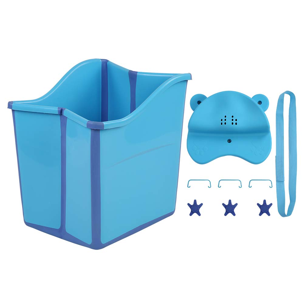 Collapsible Bathing Tub, Foldable Bathtub Portable Shower Basin for Children Toddlers by Cocoarm