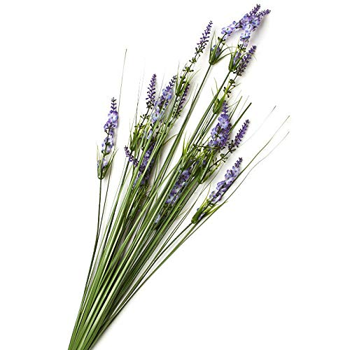 Factory Direct Craft Purple Artificial Lavender and Onion Grass Spray