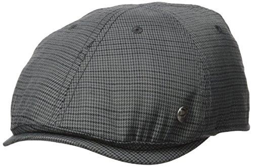 Perry Ellis Men's Houndstooth Driver Cap, Castlerock, S-M (Cap Drivers Plaid)