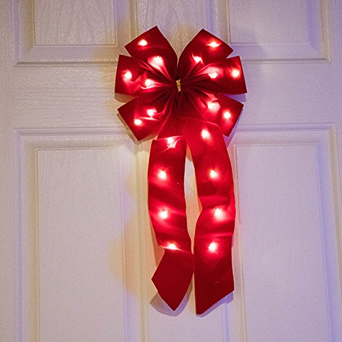 Outdoor Lighted Bows - 2