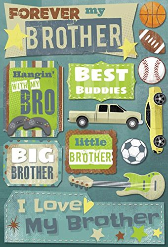 - KAREN FOSTER Cardstock Stickers-Forever My Brother
