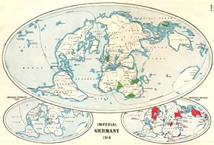 Amazon.com: GERMAN EMPIRE. Shown in 1884 & 1914. British ...