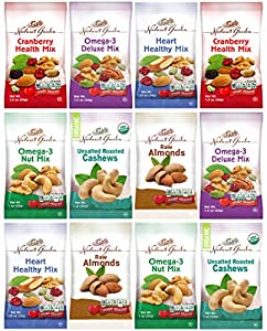 Healthy Premium Assorted Nuts and Fruits Snack Mix Sampler Variety Pack, Good for the Heart (Care Package 12 Count)
