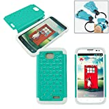 Customerfirst - Stud Diamond Studded Silicone Rubber Skin Hard Bling Case For LG