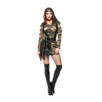 Amazon.com: YaXuan Womens Camouflage Cosplay Instructor ...