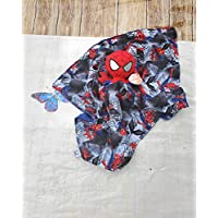 Lovey Spider man Plush Security Blanket, Cotton Spider man Print, Baby Lovey